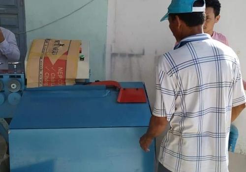 Máy bẻ đai sắt tích hợp giao tại Campuchia