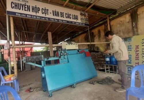 Máy bẻ đai sắt thế hệ mới về Bắc Ninh
