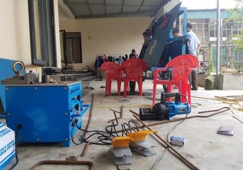 Máy cắt uốn sắt xây dựng giao về Hà Tĩnh
